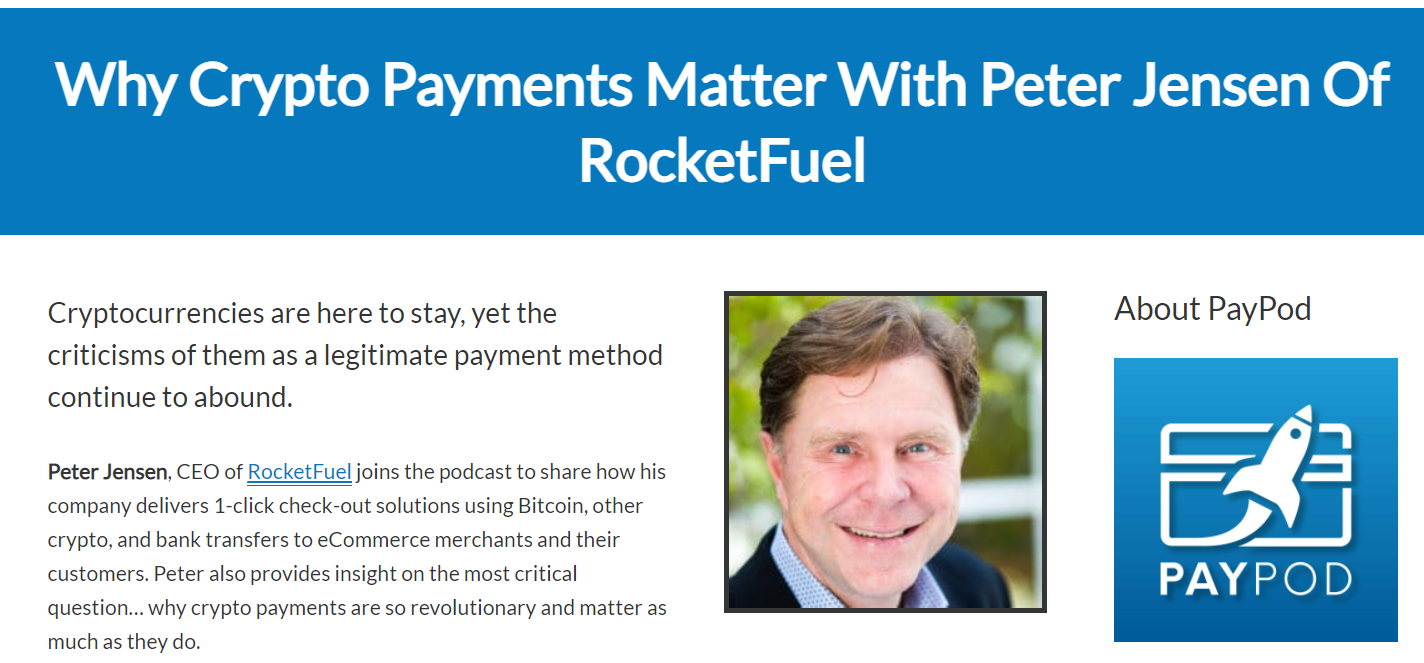 PayPod Podcast with Peter Jensen - CEO, RocketFuel